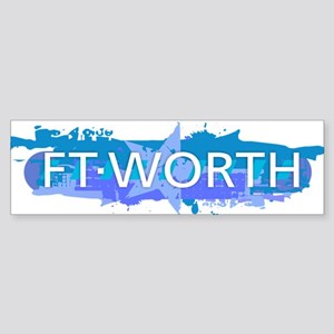Fort Worth Design Bumper Sticker